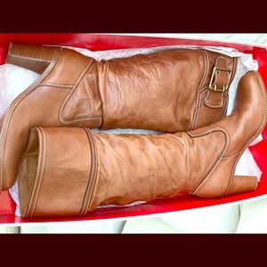 Coach Meridith Knee High Boots Made in Italy!